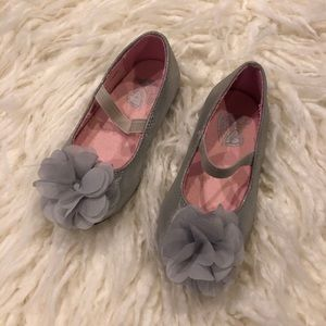 Children's Place Silver Mary Janes